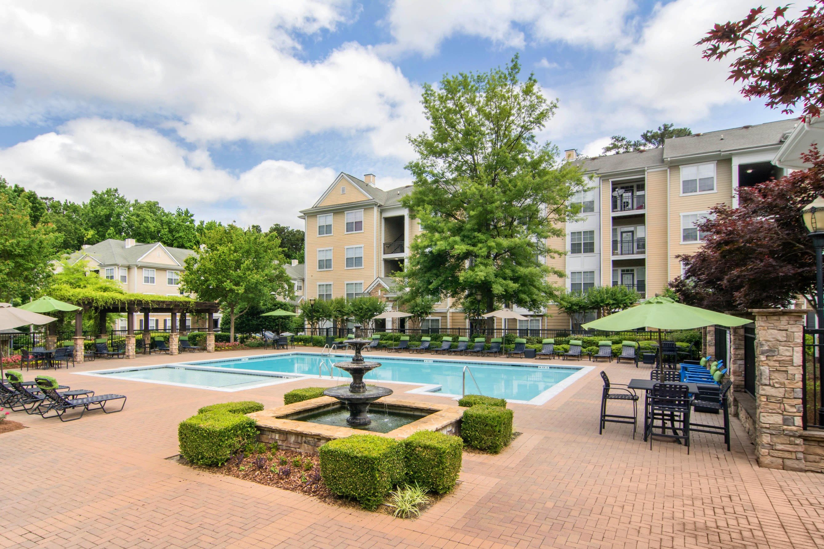 Large resort-style swimming pool at Cavalier @ 100 in Lithonia, Georgia