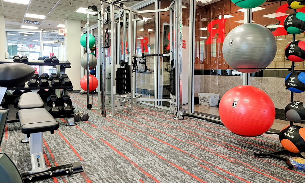 Riverside Towers Apartment Homes offers a fitness center in New Brunswick, New Jersey