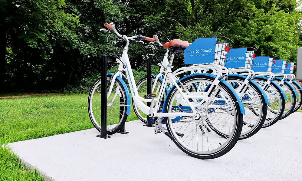 Bike share at Post & Coach Apartment Homes in Freehold, New Jersey