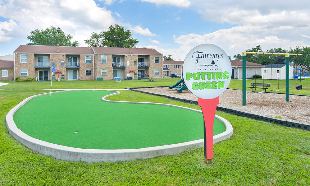 Putting green at The Fairways Apartment Homes in Blackwood, NJ