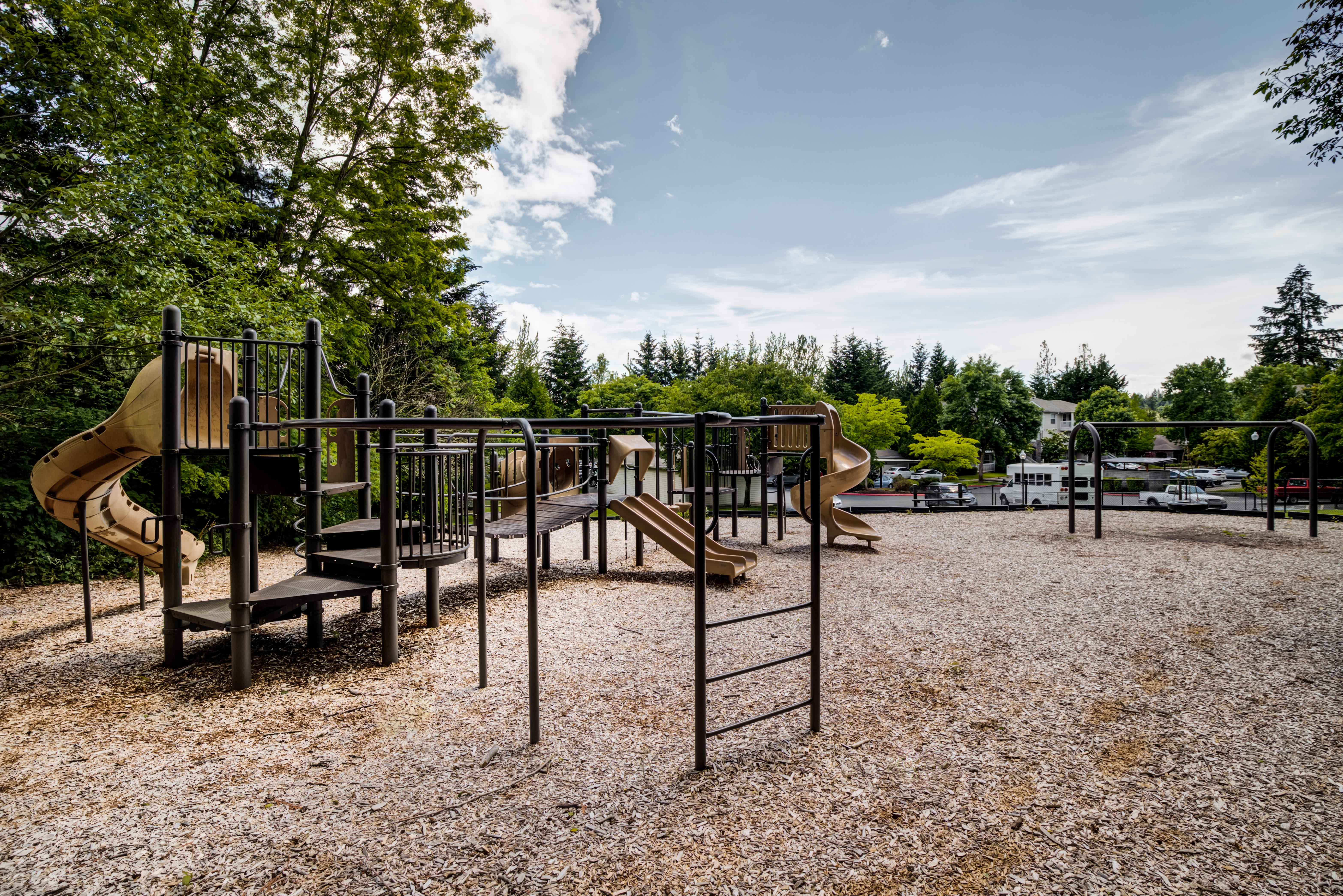 Onsite playground at The Knolls at Inglewood Hill in Sammamish, Washington