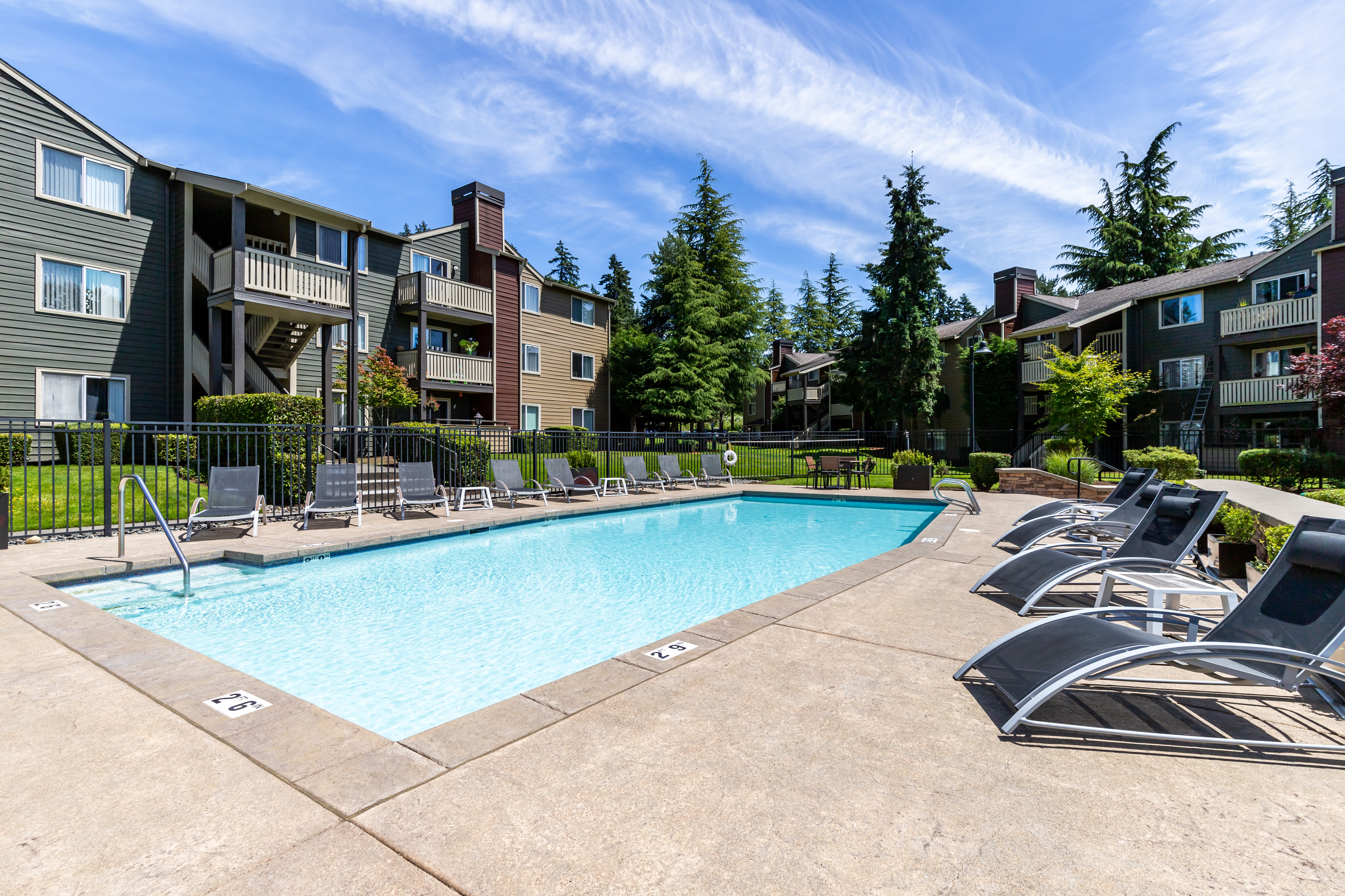 Outdoor pool at The Preserve at Forbes Creek in Kirkland, Washington