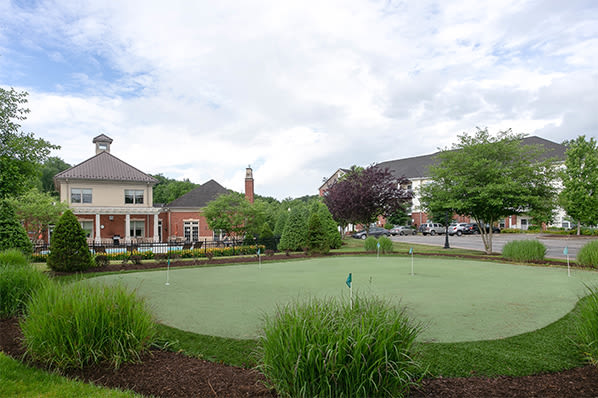 Putting green at Marquis Place in Murrysville, Pennsylvania