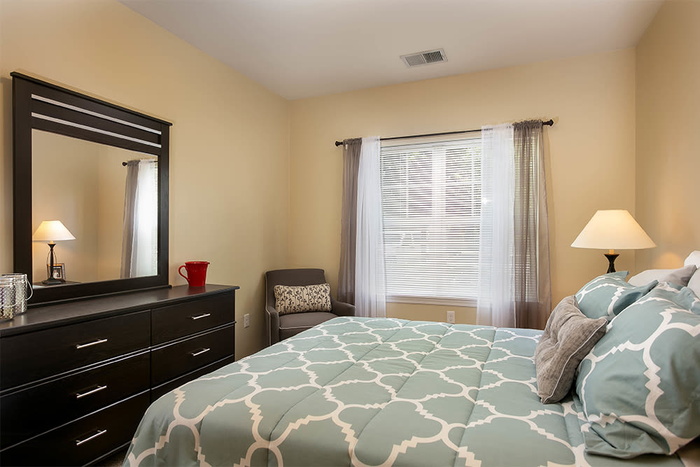 Master bedroom at Marquis Place in Murrysville, Pennsylvania