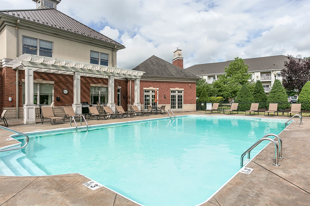 Swimming pool at Marquis Place in Murrysville, Pennsylvania