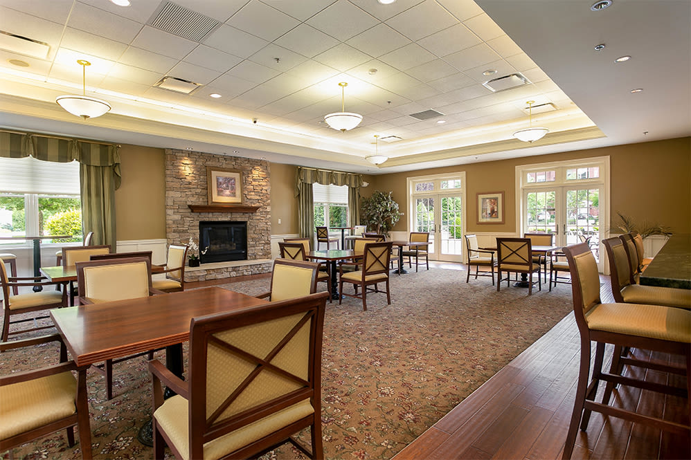 Luxury clubhouse at Marquis Place in Murrysville, Pennsylvania