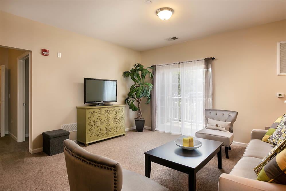 Living room at Marquis Place in Murrysville, Pennsylvania