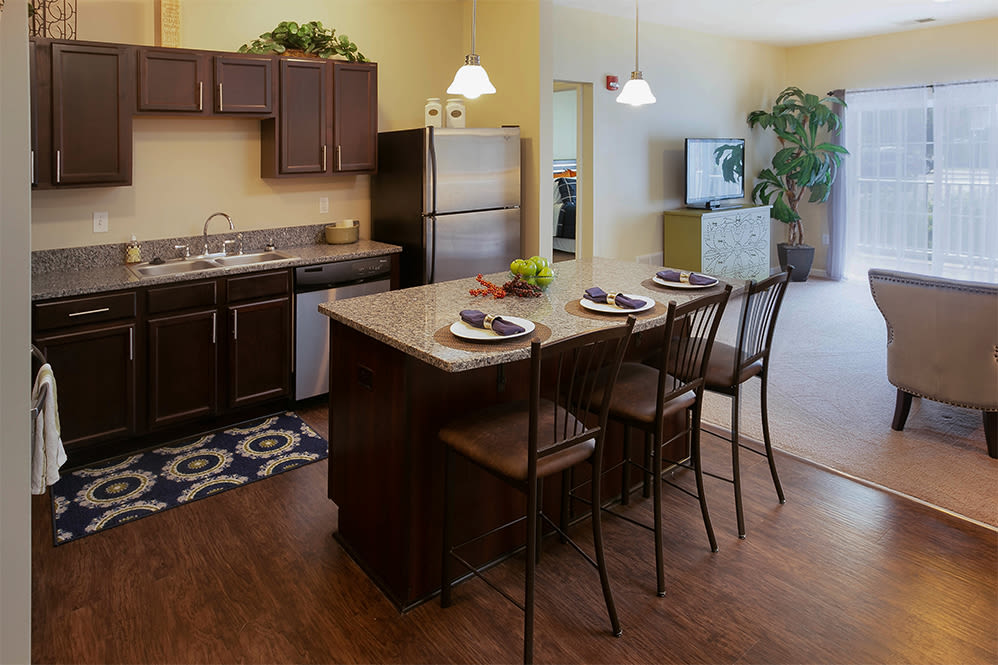 Spacious kitchen at Marquis Place in Murrysville, Pennsylvania