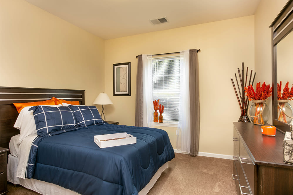 Cozy bedroom at Marquis Place in Murrysville, Pennsylvania