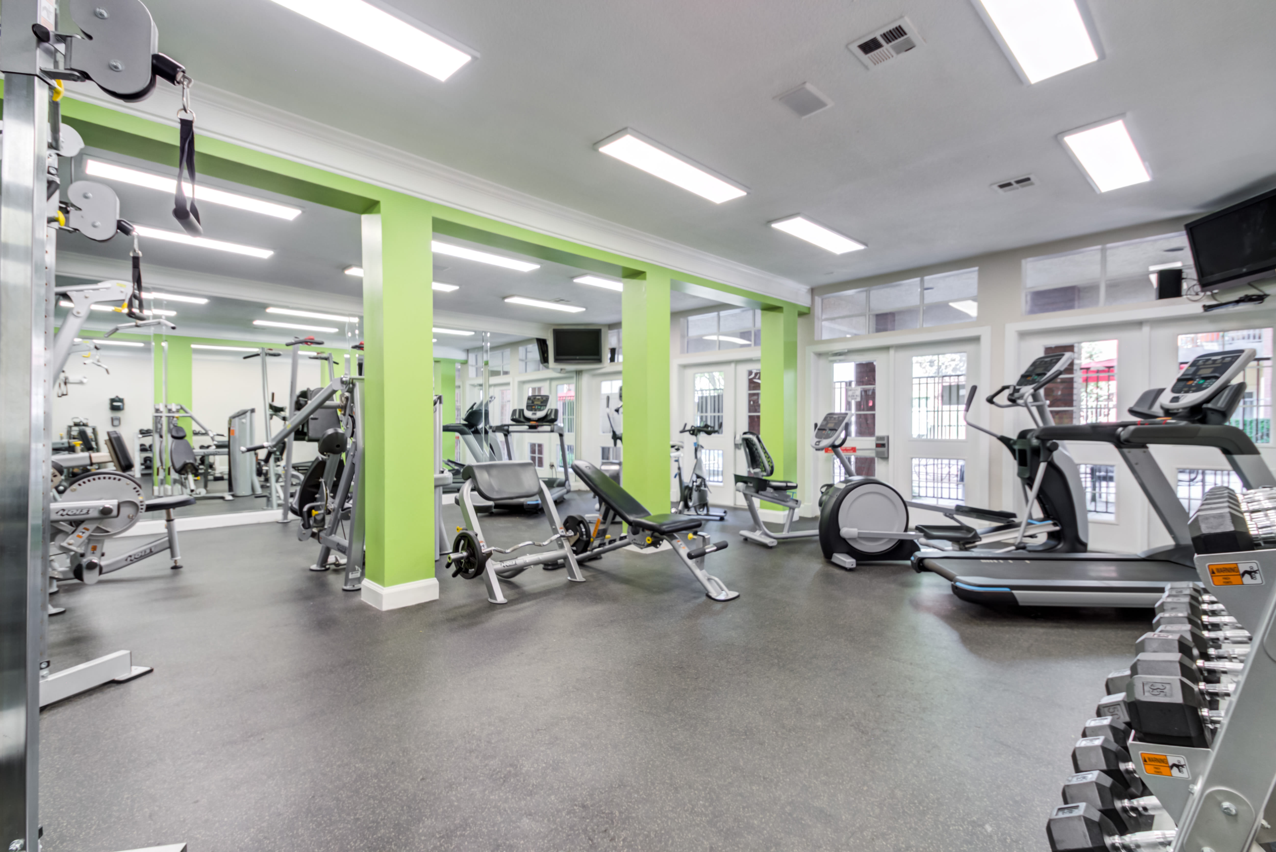 Gym at Irving Schoolhouse Apartments in Salt Lake City, Utah