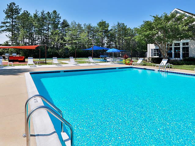 Swimming pool at St. Mary's Landing Apartments & Townhomes