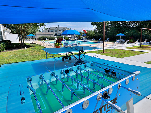 Outdoor games at St. Mary's Landing Apartments & Townhomes
