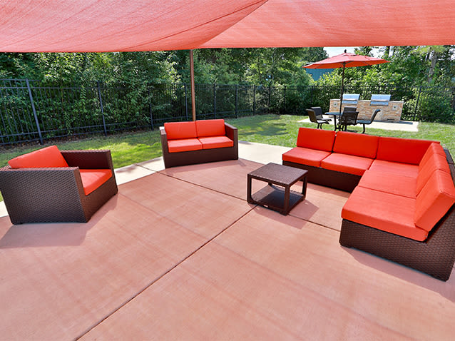Relaxing sundeck at St. Mary's Landing Apartments & Townhomes