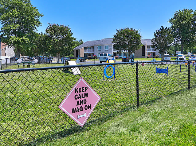 Spacious dog park at St. Mary's Landing Apartments & Townhomes