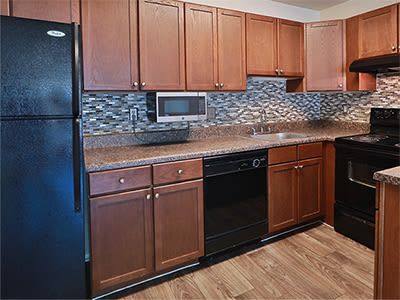 Well equipped kitchen at St. Mary's Landing Apartments & Townhomes