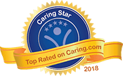 Caring Star of 2018 badge for Merrill Gardens at Tacoma in Tacoma, Washington