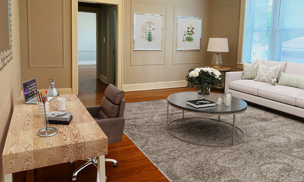 Home office space at Berkeley Arms Apartment Homes in Rutherford, New Jersey