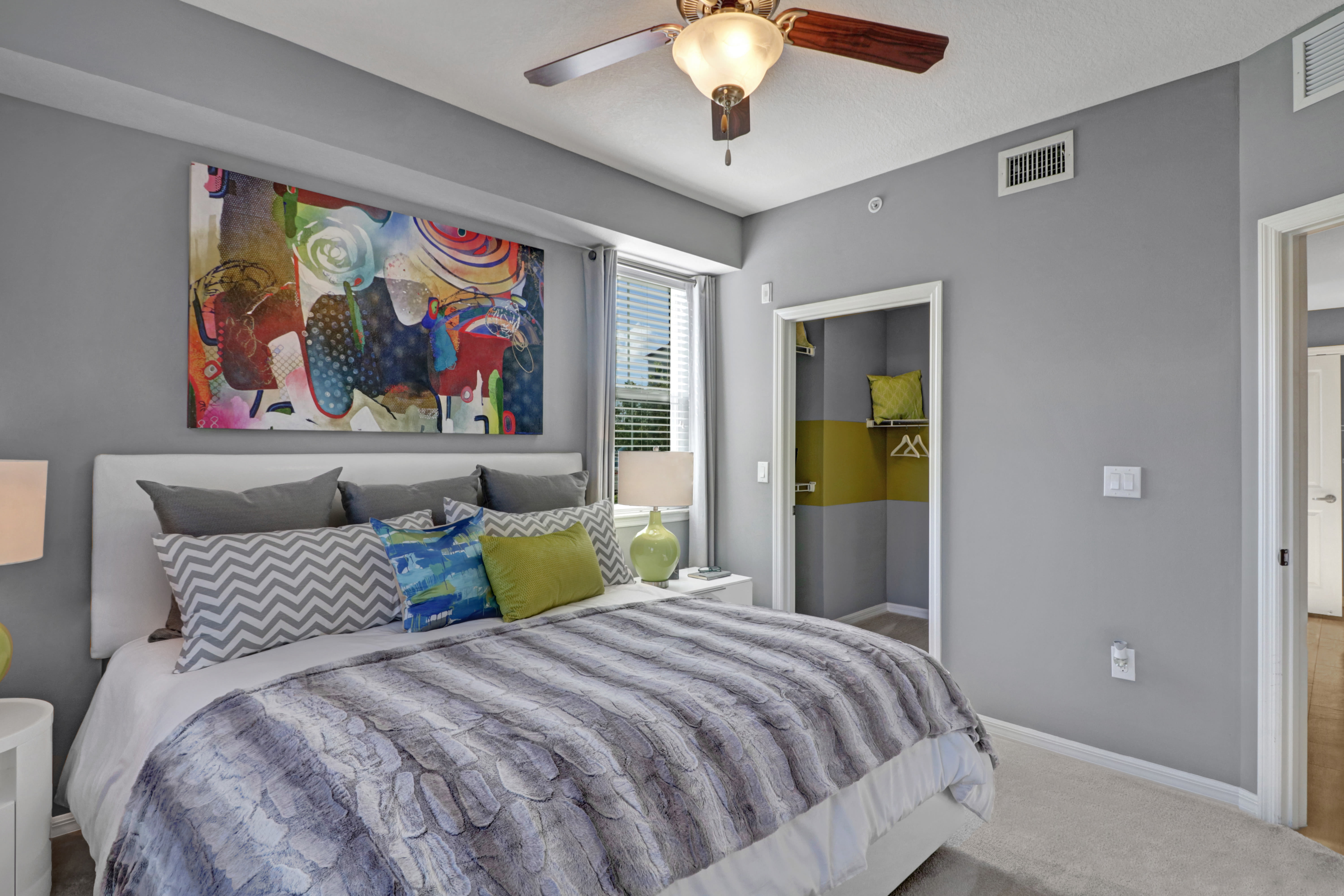 Our Modern Apartments in Pompano Beach, Florida showcase a Bedroom
