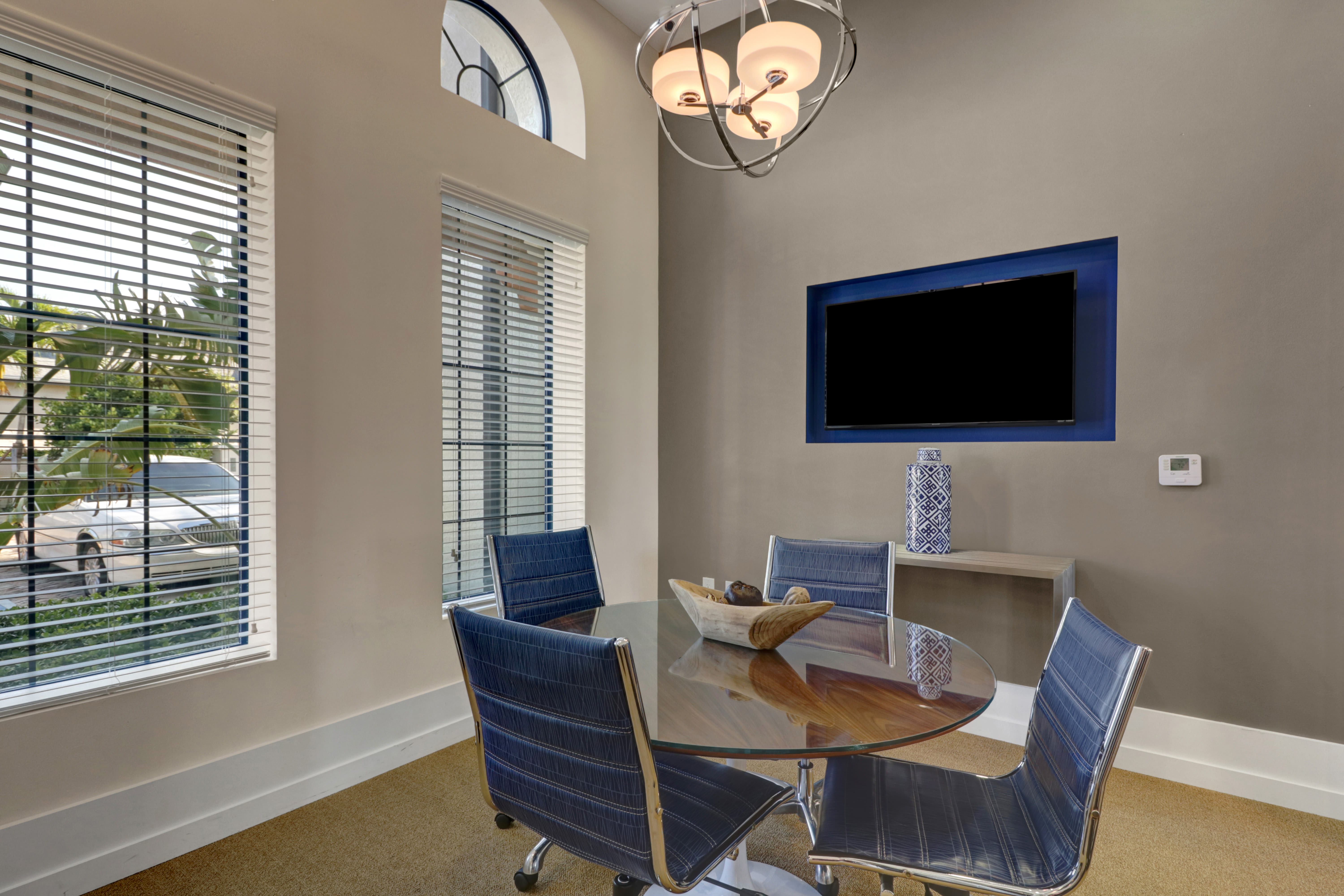 Conference or meeting space at Linden Pointe in Pompano Beach, Florida