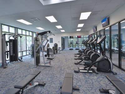 Gym at Willow Run at Mark Center Apartment Homes in Alexandria, VA