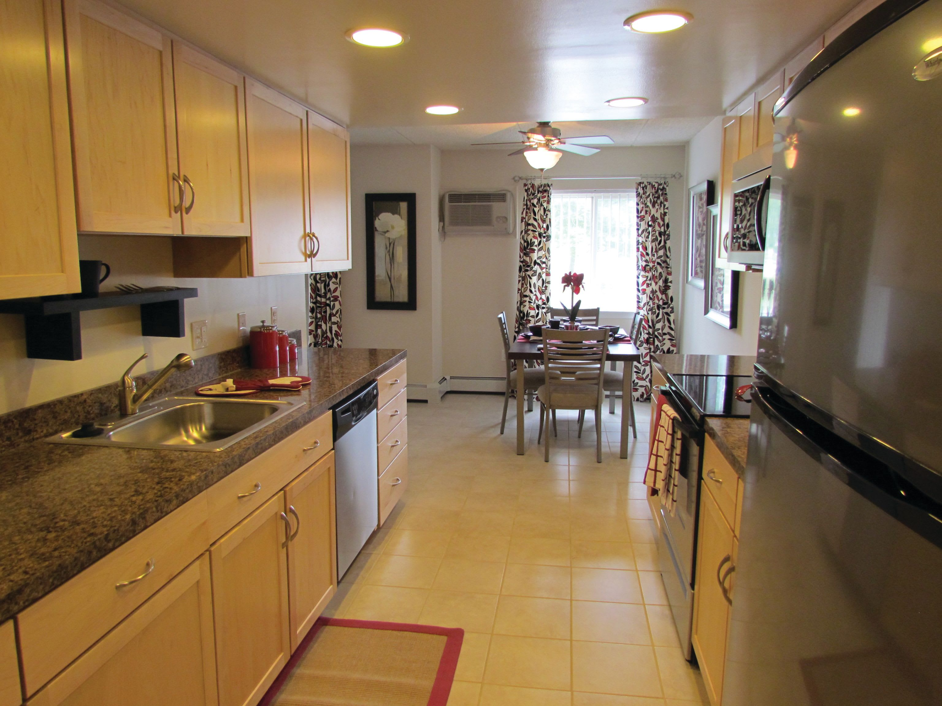 Kitchen featuring tons of countertop space and stainless steel appliances at Frazer Crossing in Malvern, Pennsylvania
