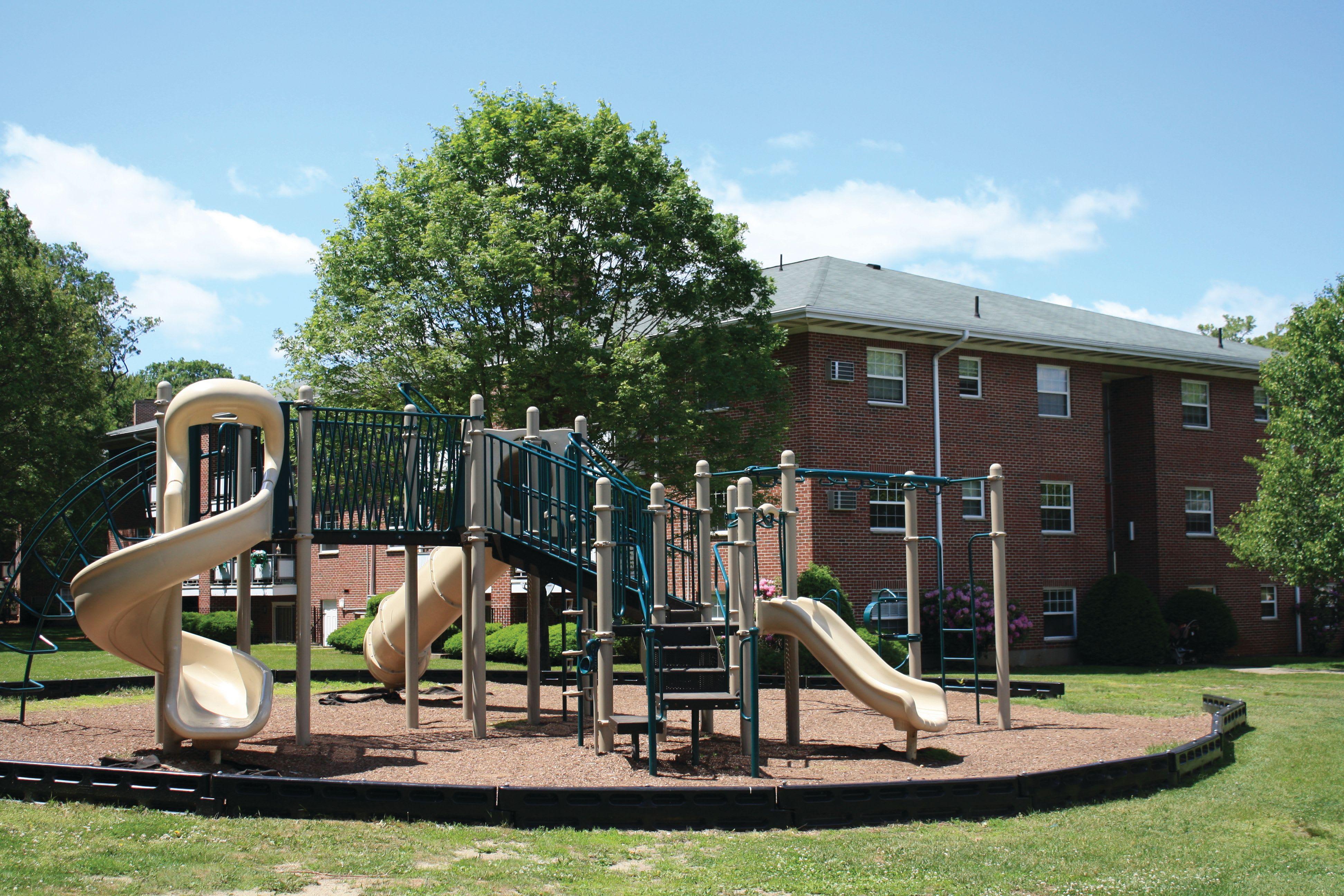 Playground at Gardencrest in Waltham, Massachusetts