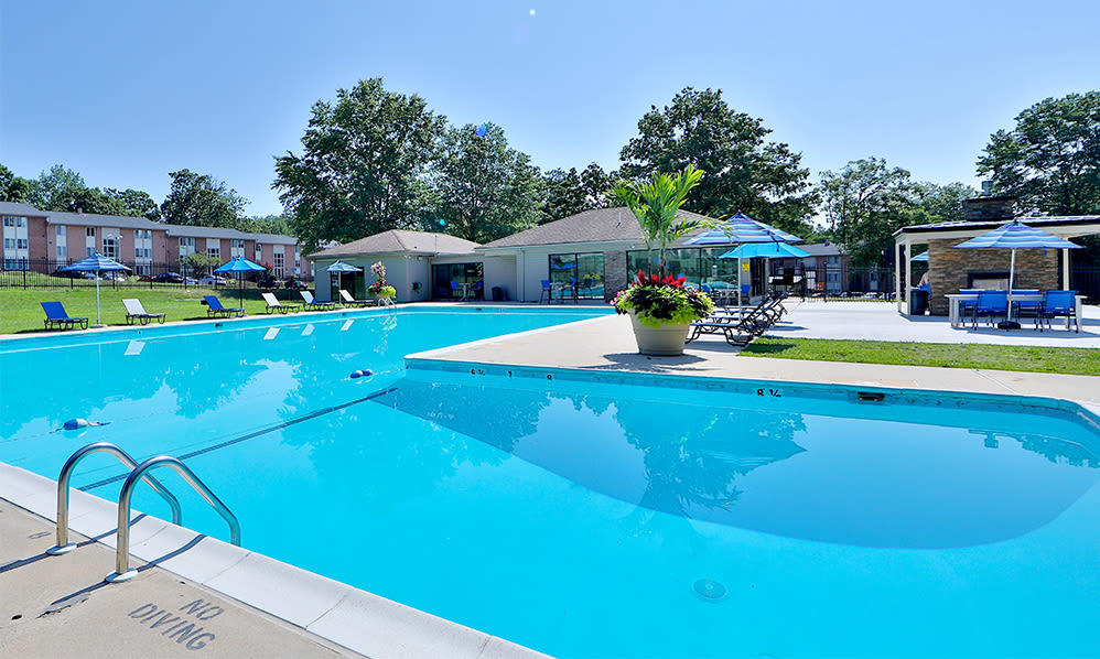 Swimming pool at Skylark Pointe Apartment Homes in Parkville, Maryland