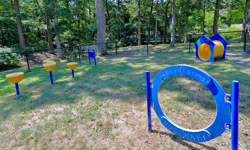 Dog park at Skylark Pointe Apartment Homes in Parkville, Maryland