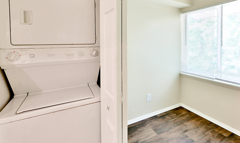 In-home washer and dryer at Skylark Pointe Apartment Homes in Parkville, Maryland