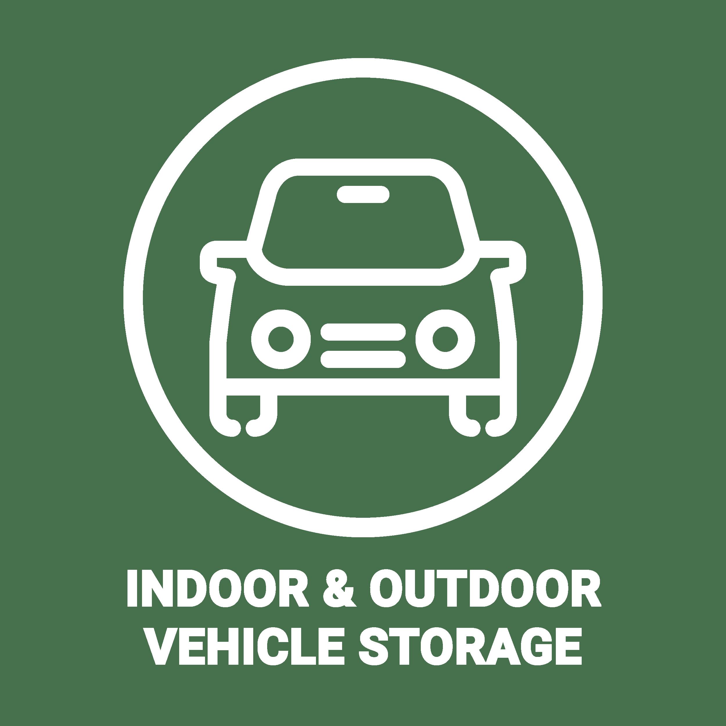 Vehicle storage at Doane Road Storage in Queensville, Ontario