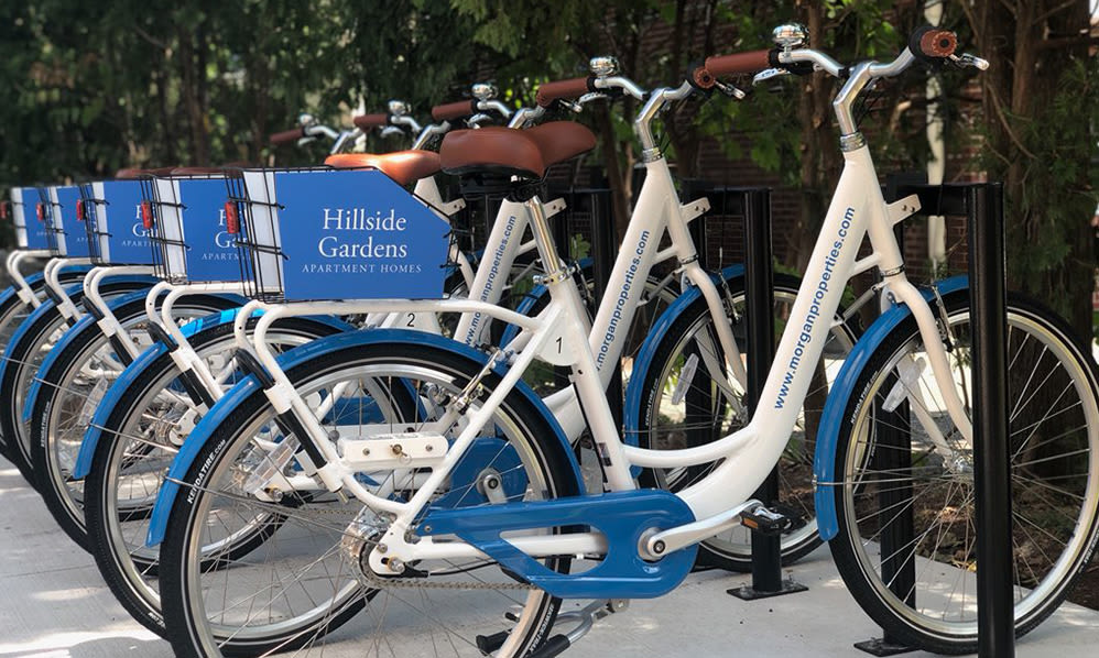 Bike share at Hillside Gardens Apartment Homes in Nutley, New Jersey