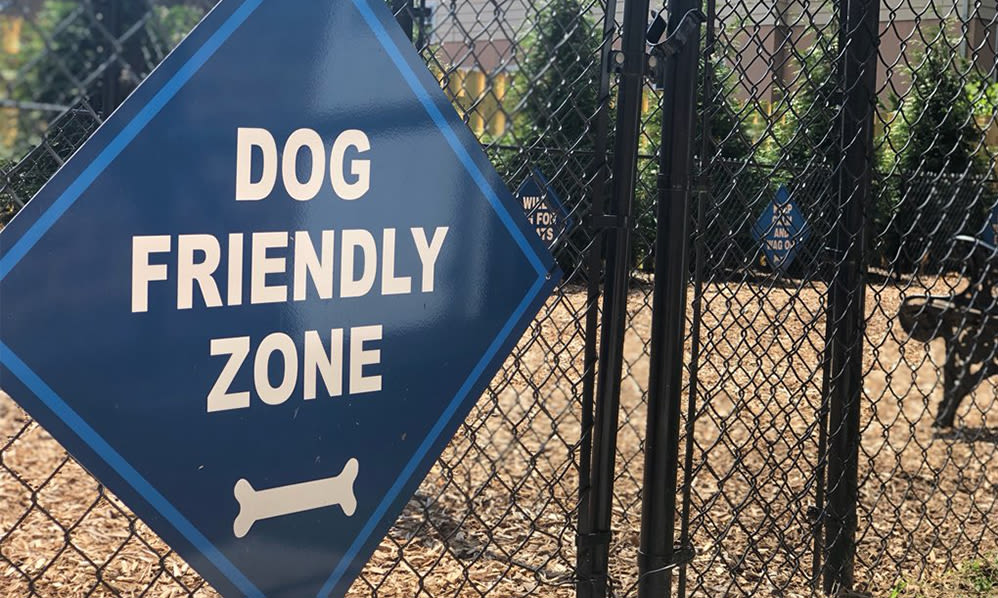 Dog park at Hillside Gardens Apartment Homes in Nutley, New Jersey
