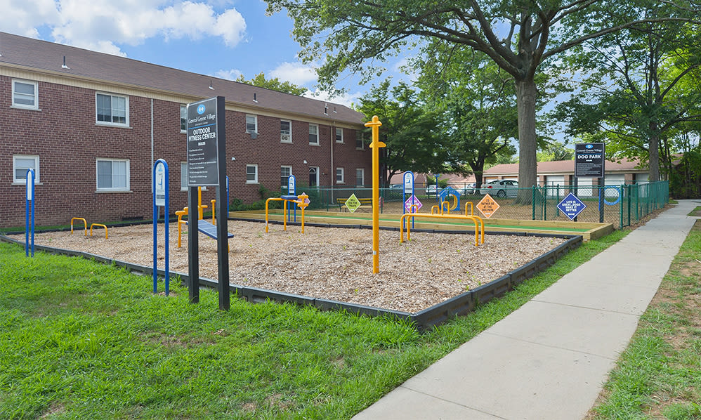 Outdoor fitness at General Greene Village Apartment Homes in Springfield, NJ
