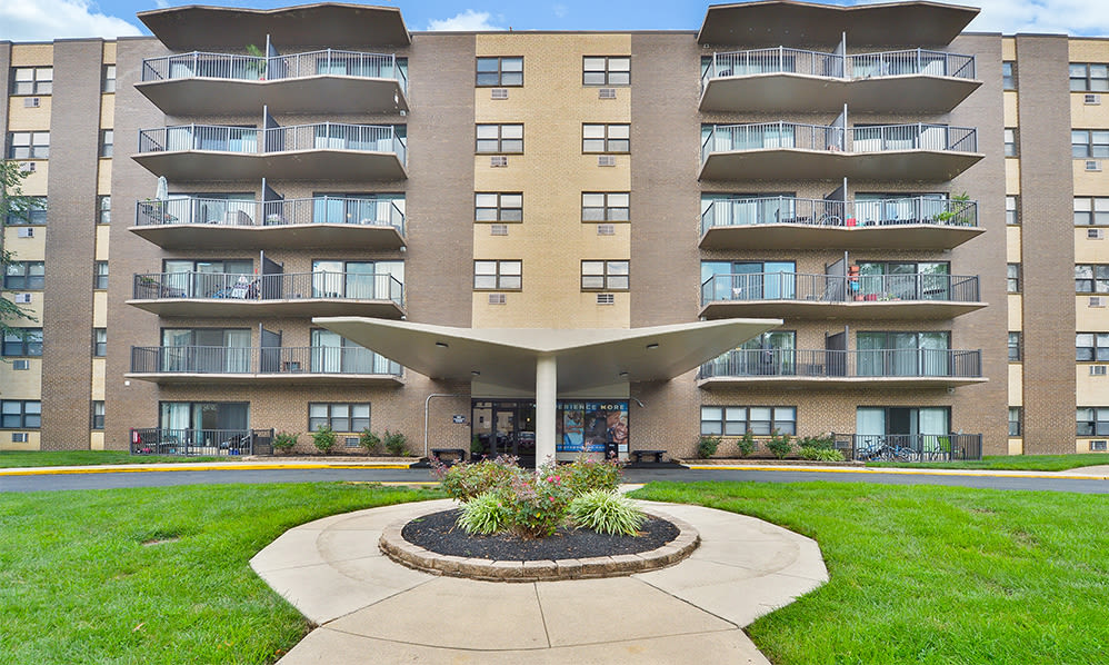 Front entrance at The Colonials Apartment Homes in Cherry Hill, NJ