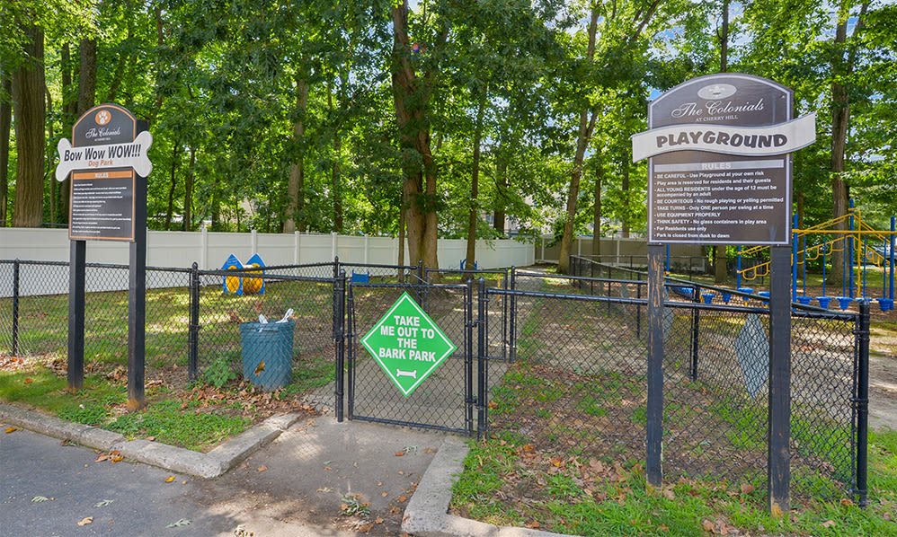 Dog park at The Colonials Apartment Homes in Cherry Hill, NJ