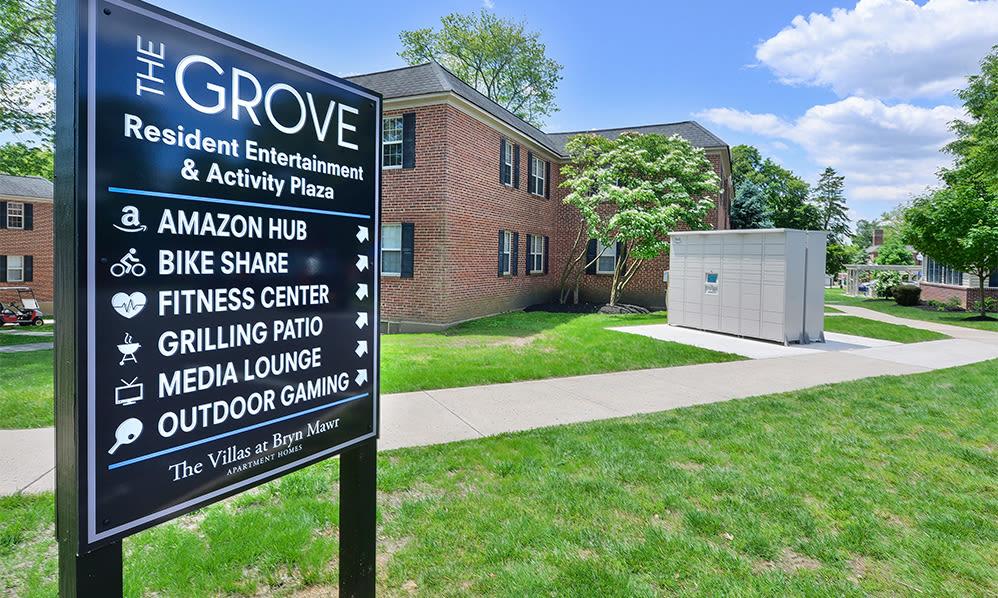 Amazon hub at The Villas at Bryn Mawr Apartment Homes in Bryn Mawr, Pennsylvania