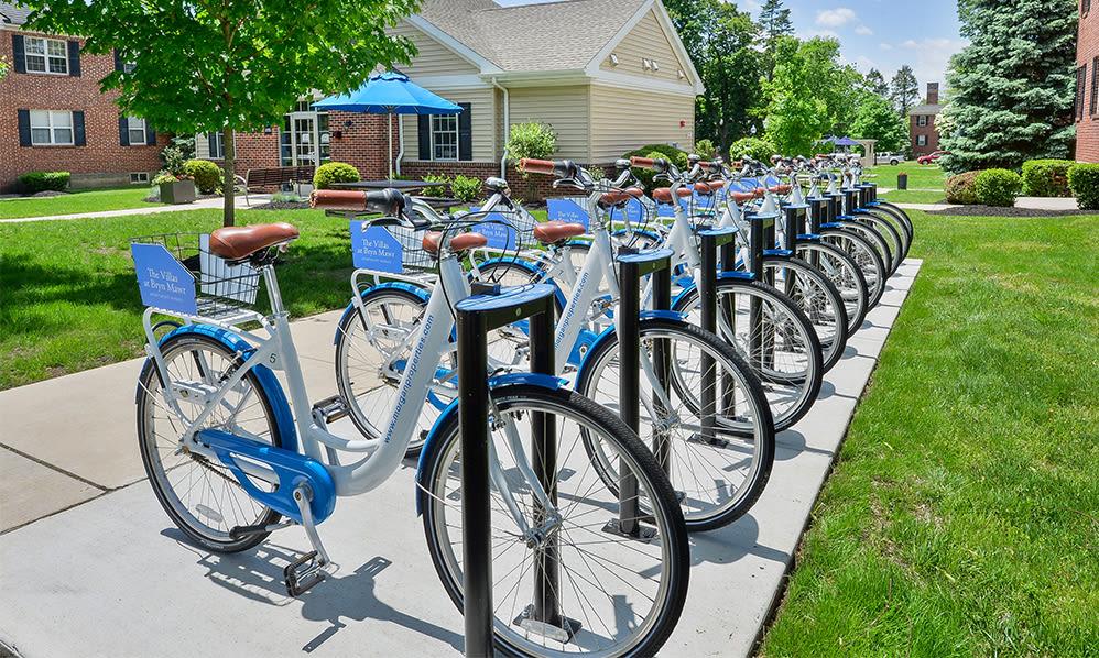 Bike share at The Villas at Bryn Mawr Apartment Homes in Bryn Mawr, Pennsylvania