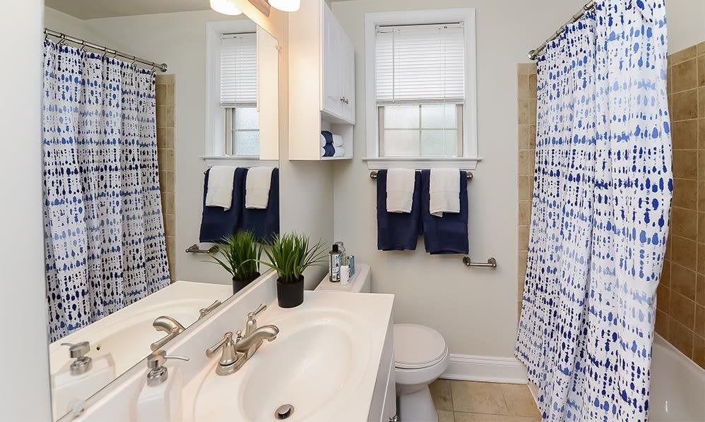 Bathroom at The Villas at Bryn Mawr Apartment Homes in Bryn Mawr, Pennsylvania
