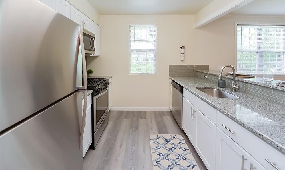 Spacious kitchen at The Villas at Bryn Mawr Apartment Homes in Bryn Mawr, Pennsylvania