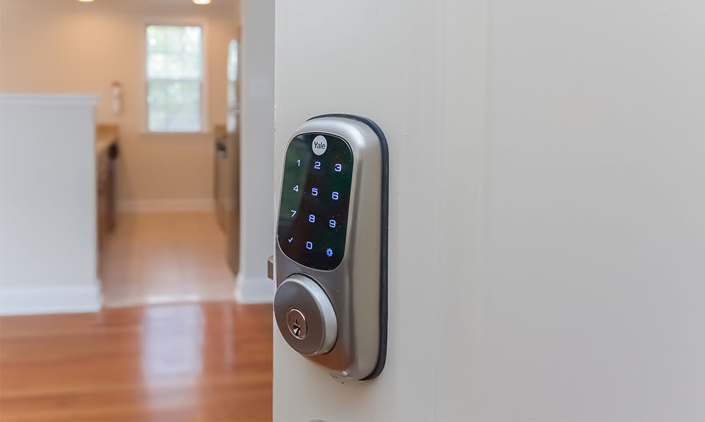 Smart locks at The Villas at Bryn Mawr Apartment Homes in Bryn Mawr, Pennsylvania