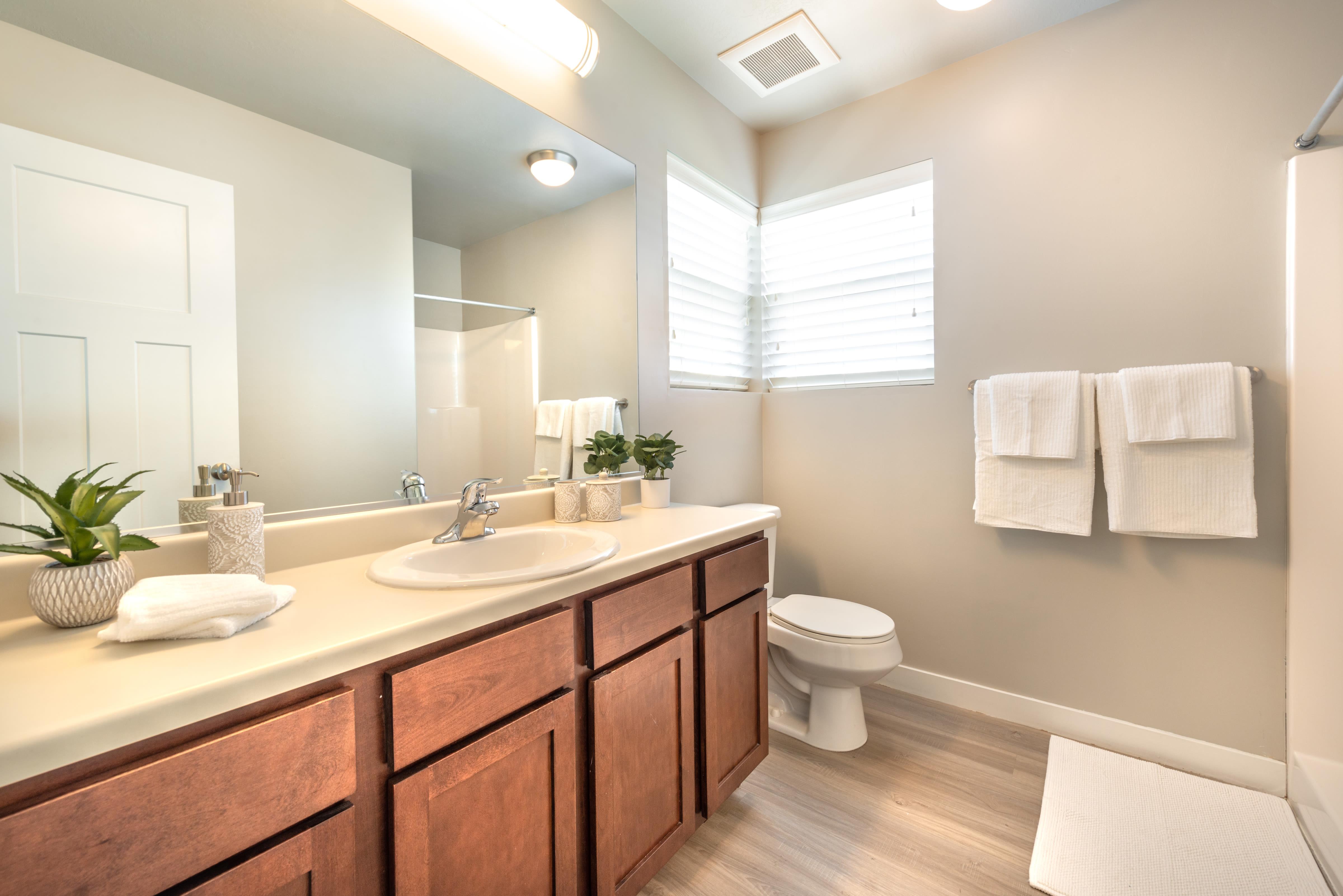 Bathroom at Olympus at the District in South Jordan, Utah