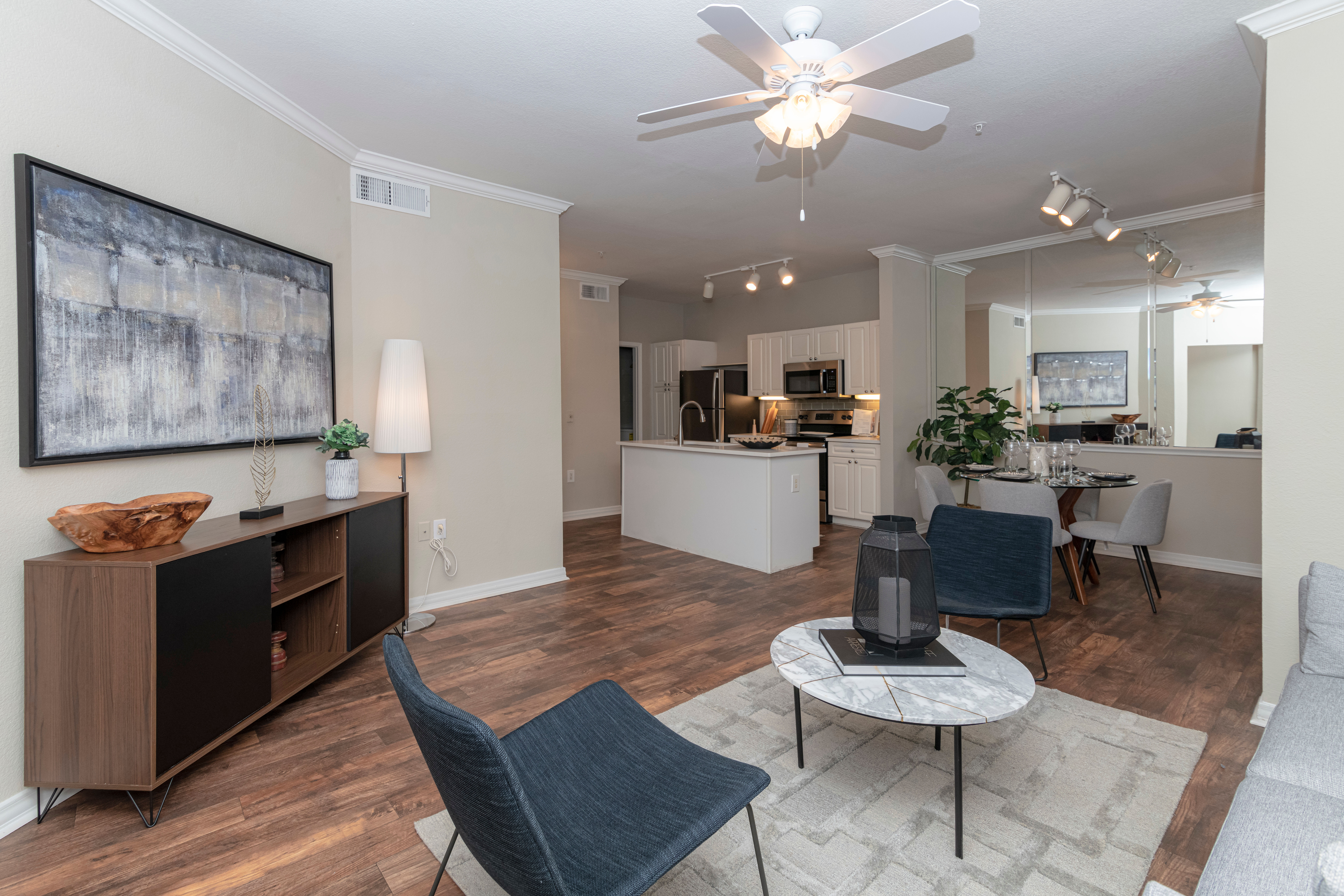 Living area at Irving, Texas near The Lyndon