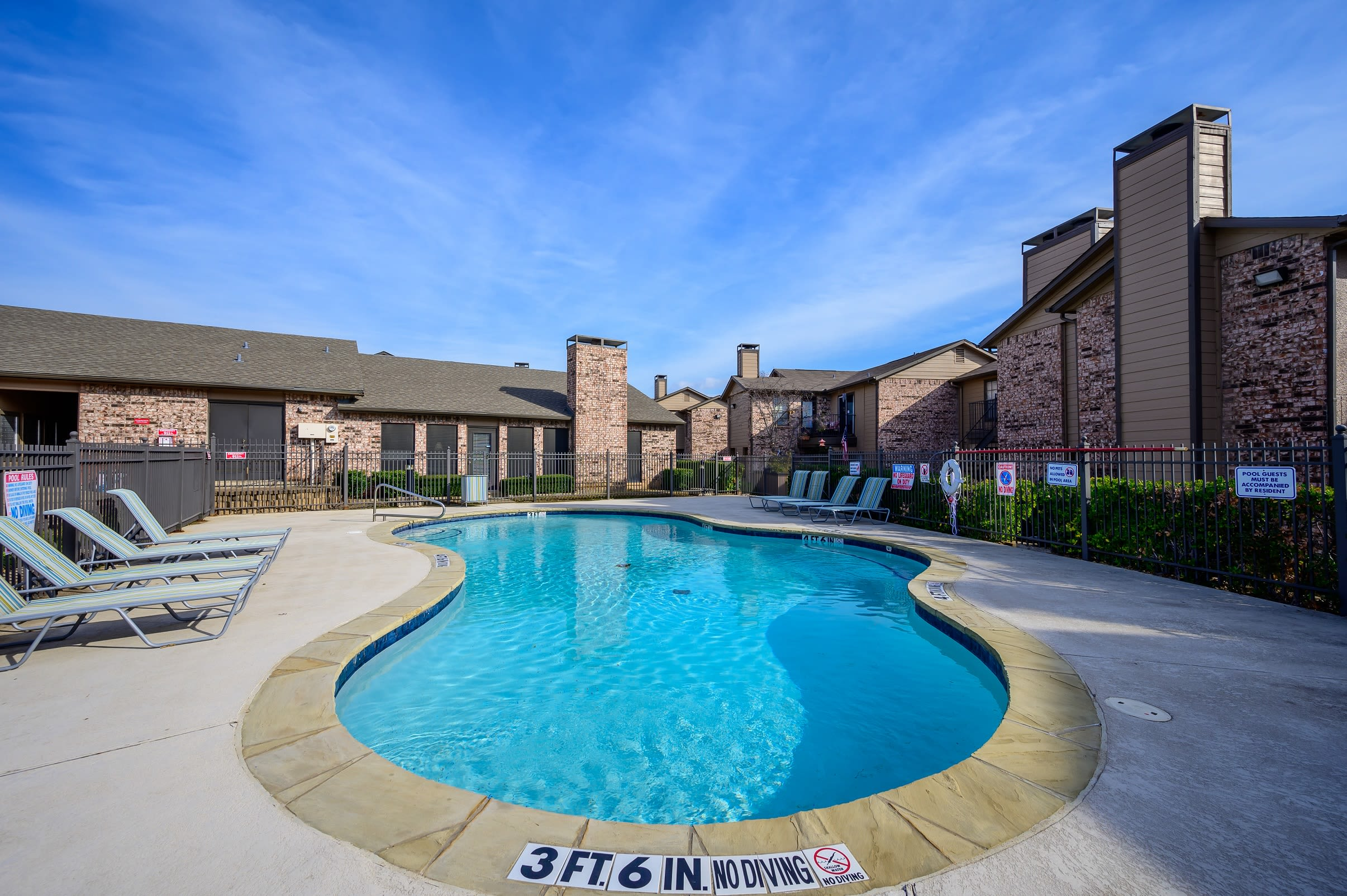 Second swimming pool at Canopy on Central in Bedford, Texas