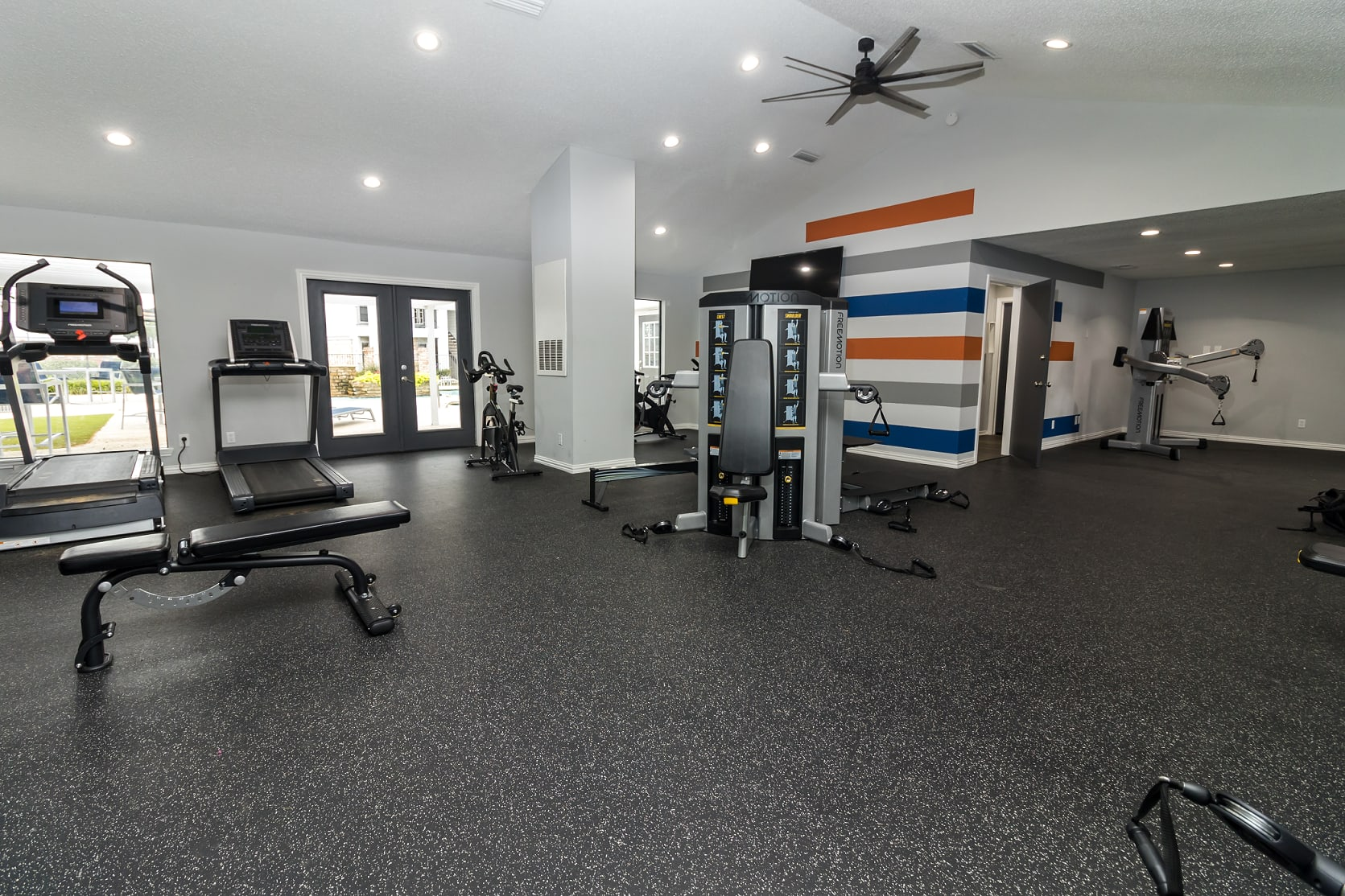State-of-the-art fitness center at The Logan in Bedford, Texas