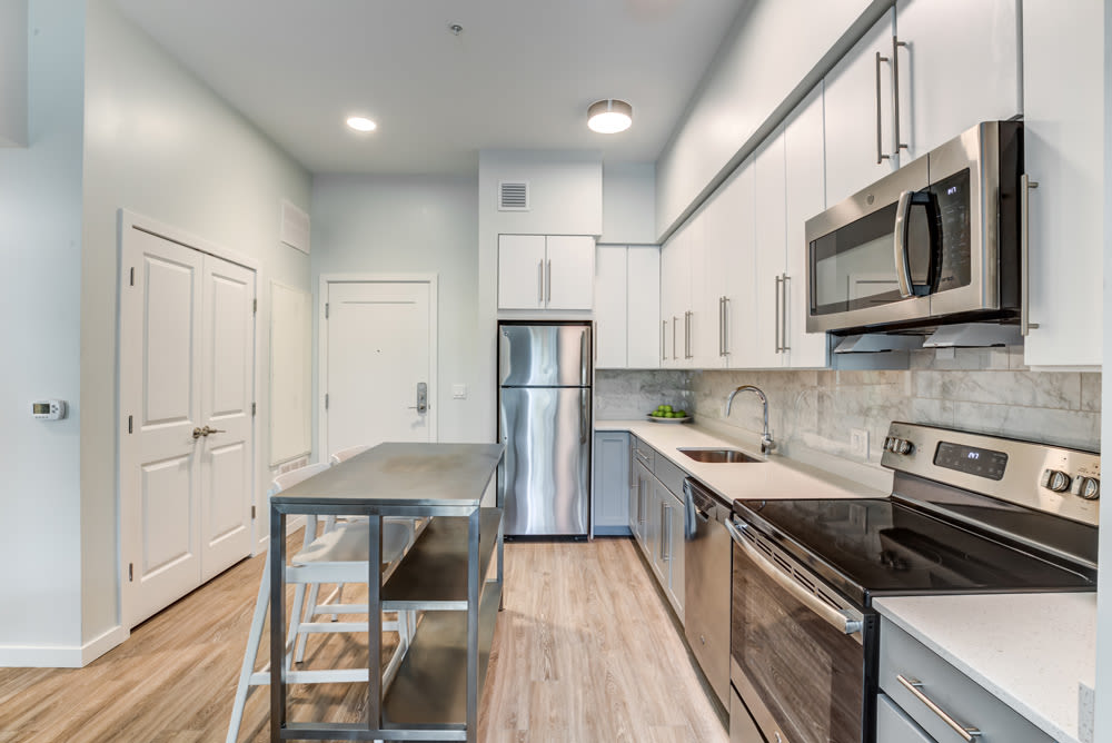Stainless Steel Appliances at North Square Apartments at The Mill District in Amherst, Massachusetts