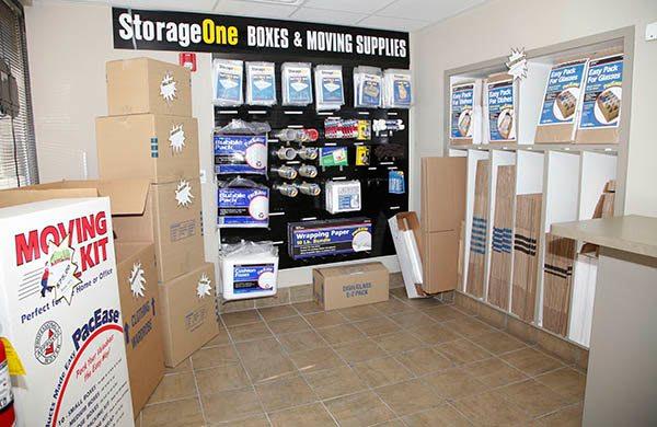 Moving supplies at StorageOne Blue Diamond & Buffalo in Las Vegas, Nevada