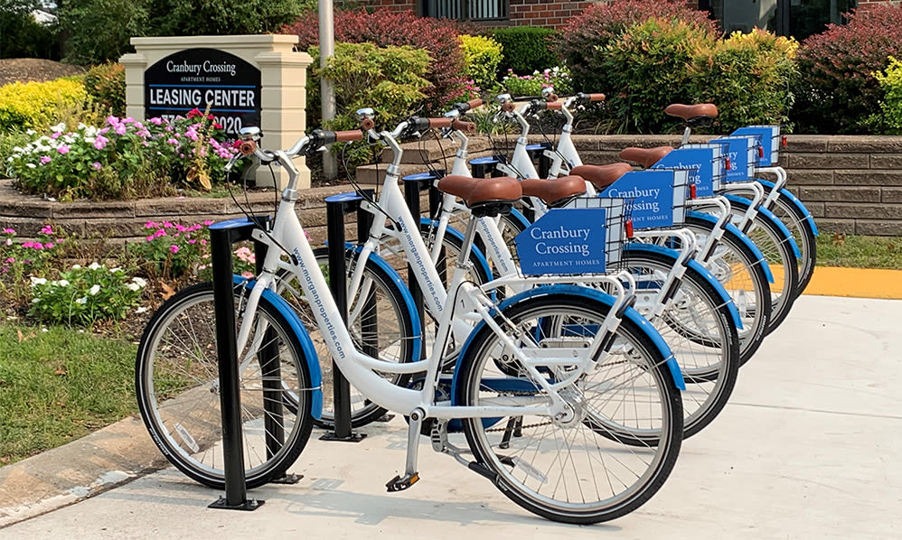 Free bike share at Cranbury Crossing Apartment Homes in East Brunswick, New Jersey