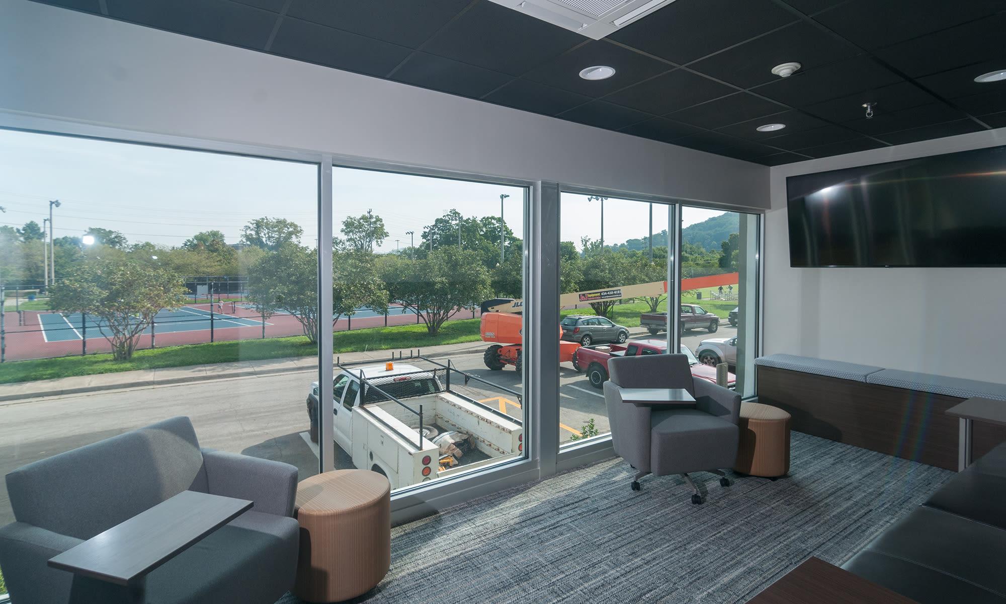 Customer Meeting Room (Centre Court) at Virginia Varsity Self Storage in Roanoke, Virginia is located