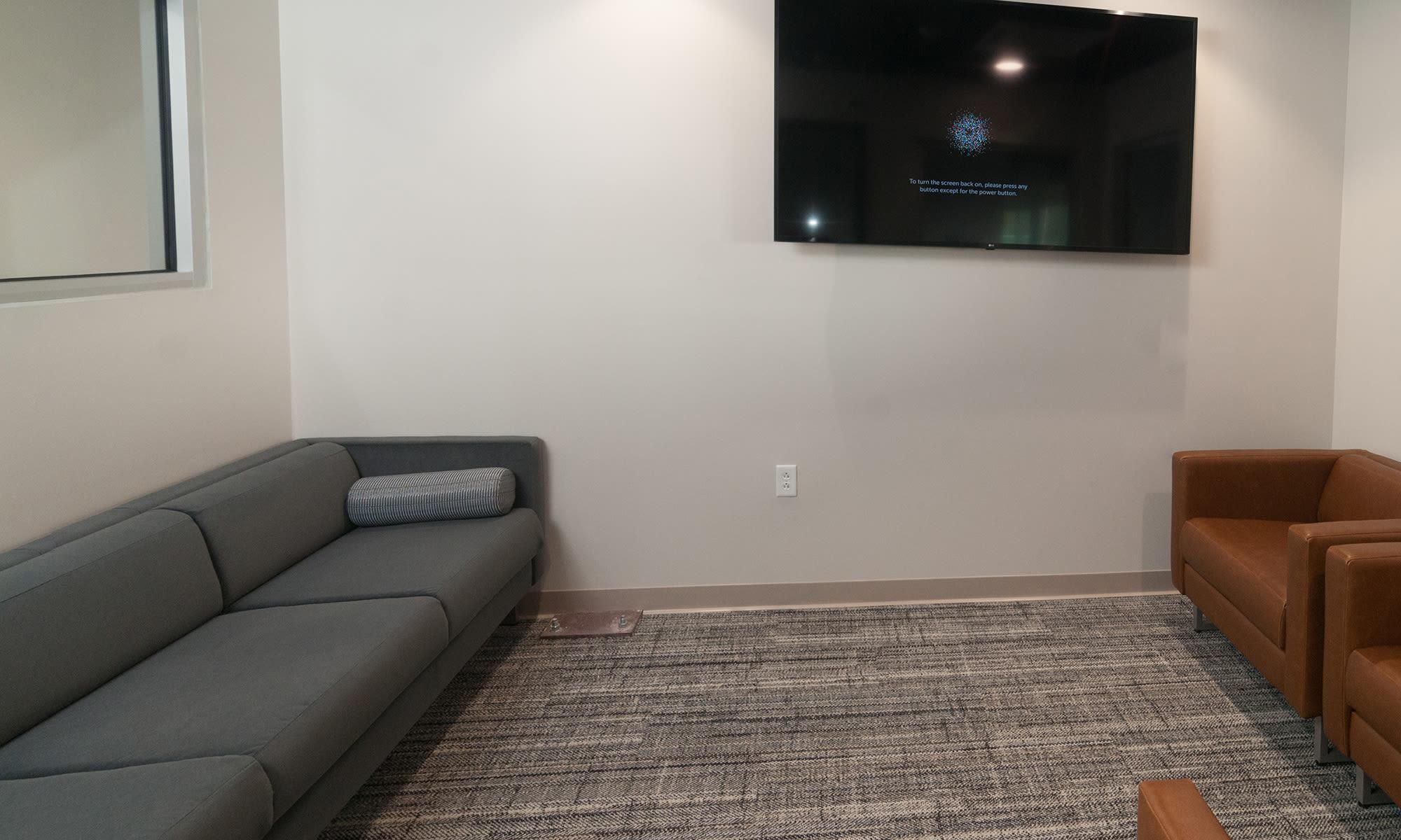 Customer Lounge (The Bullpen) at Virginia Varsity Self Storage in Roanoke, Virginia is located