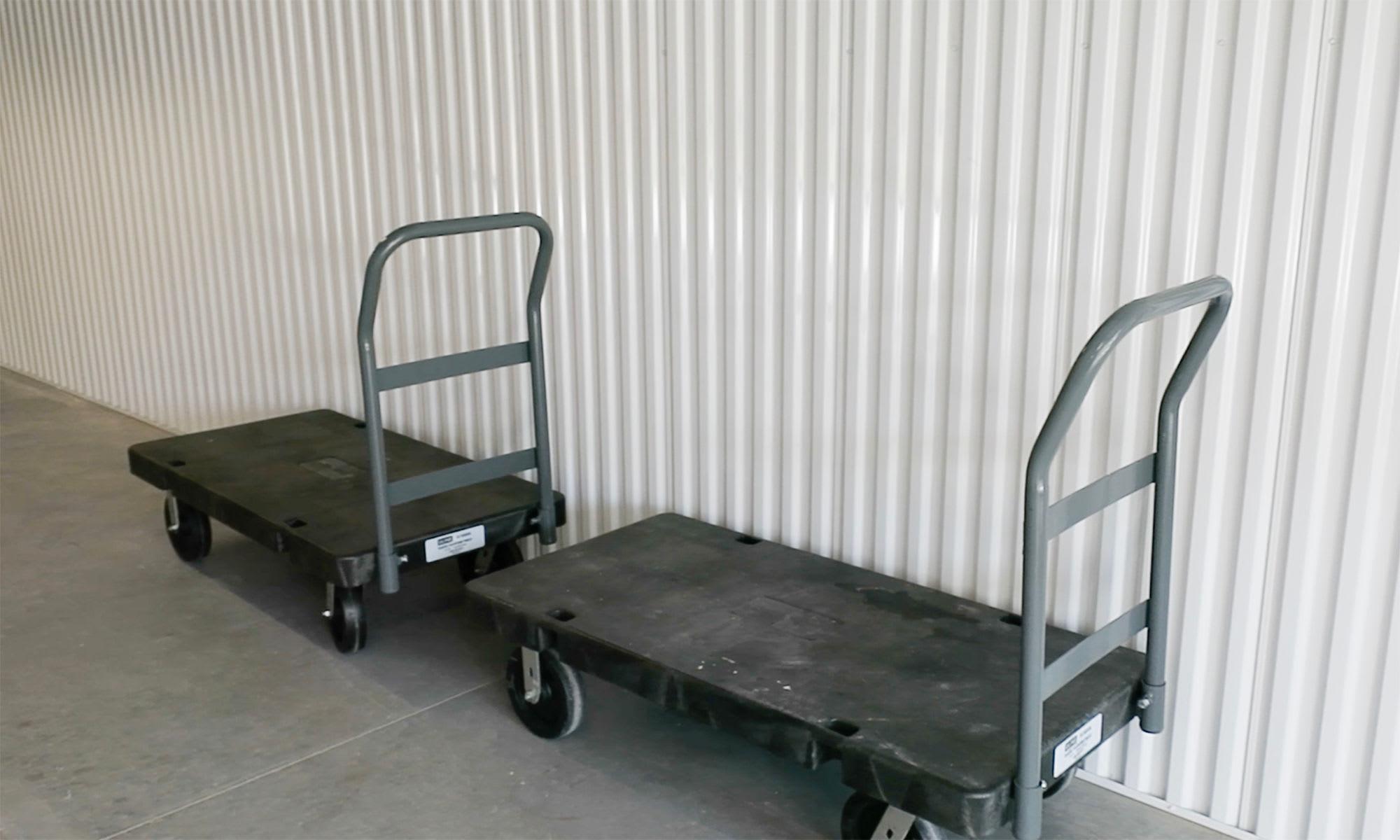 Courtesy Carts at Virginia Varsity Self Storage in Roanoke, Virginia is located